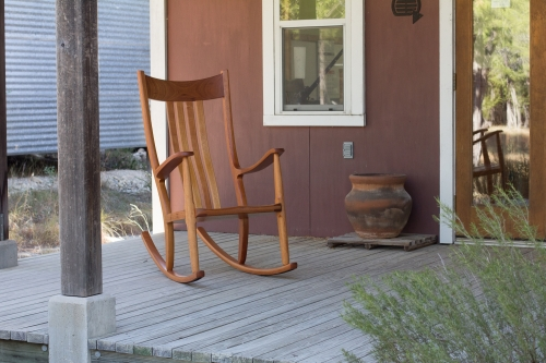 new rocker on the showroom porch