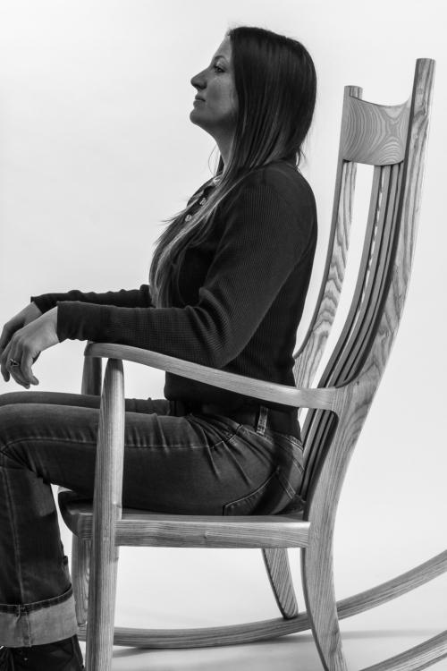 Autumn in rocking chair