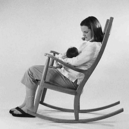 mother and child in rocking chair