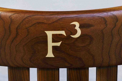 letter F with exponent inlay