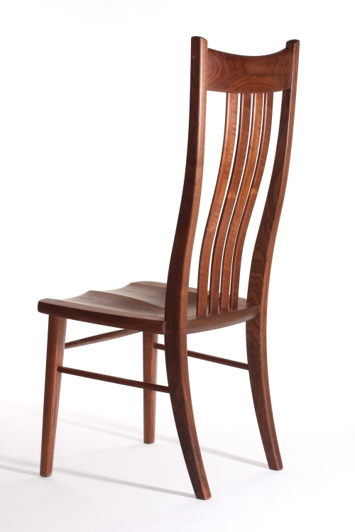 Wilson side chair, back quarter studio view