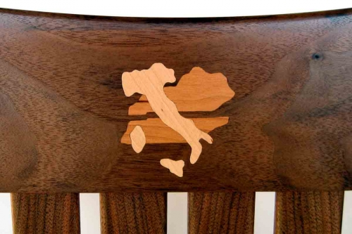 Rocking chair inlay, Kentucky Tenneesee and Italy