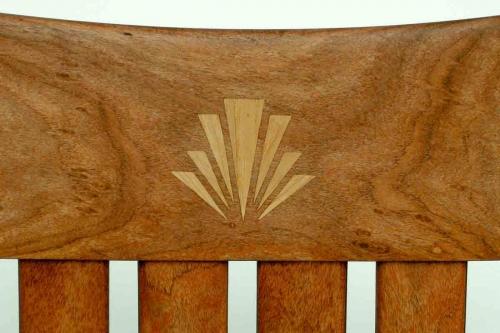 Rocking chair inlay, splash logo