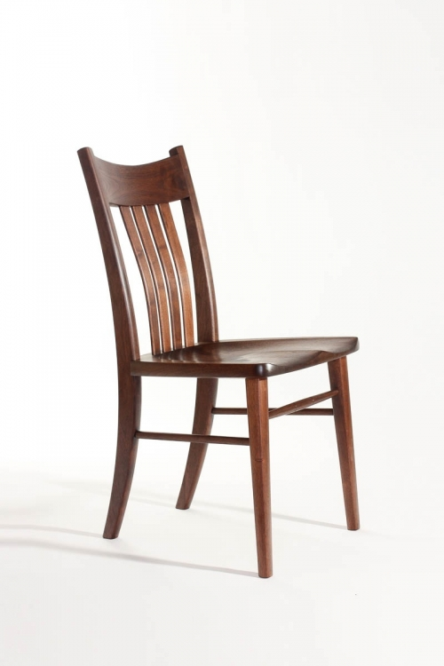 Williams side chair, front quarter view,