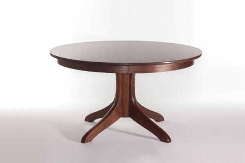 walnut Johnson pedestal dining table