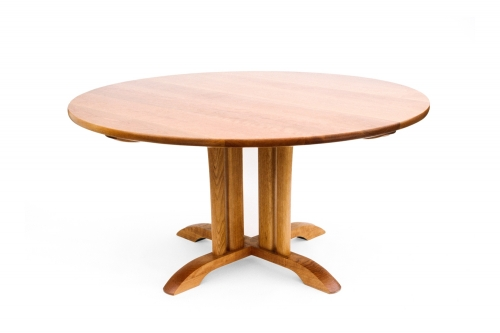 our McCoy pedestal table, studio view