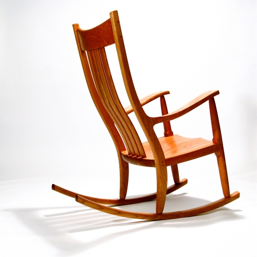 handcrafted, comfortable rocking chair