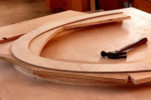 a stack lamination to make the form